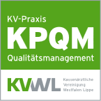 KPQM-Zertifikat der KVWL Praxis-Qualitätsmanagement-System